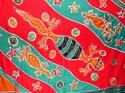 red and blue sea life shark fish design wrapping sarong