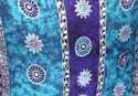 Light and dark blue color background with multi mystic Celtic circle and star pattern design