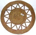 Celtic pattern design rounded retan coaster
