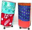Assorted color and pattern painted fashion lampshade with stand