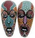 Assorted color and pattern design long face mask with empty eye hole and mouth black color lips
