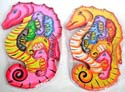 assorted color wooden puzzle in sea horse pattern design
