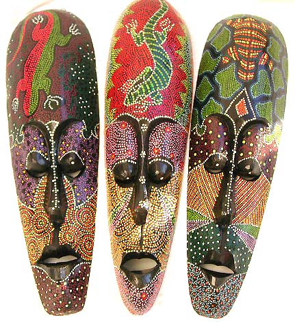 wholesale masks tribal wall decor from indonesia islands