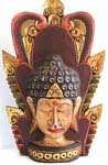 Color painting Indonesia buddha head statue