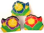 Color painting wooden flower napkin holder, assorted color randomly pick