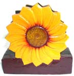 Yellow sun flower wooden napkin holder