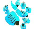 Blue tropical fish mobile