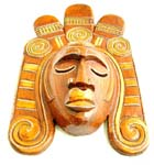 Egyptian king mask with sad facial design