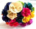 A bouquet of artificial flower