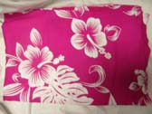 Island aloha poolside cover up in pink with white hibiscus flowers from travel wear warehouse outlet