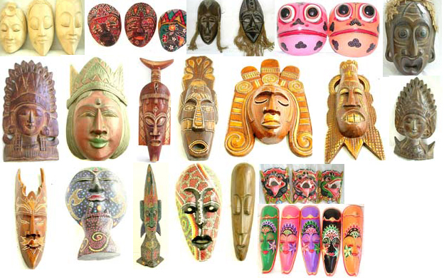 tribal art masks. Tribal Mask, Dotted Color