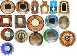 Assorted Celestial Mood Mirror, Sealife Mirror, OM Mirror, Buddha Mirror, Tribal Mirror, Animal Mirror and Gekco Mirror