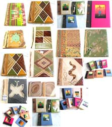 Assorted Banana Leaf Album, Printed Picture Albume, Fabric Cover Album, Natural Material Album and Recycling Paper