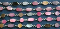 wholesale silver jewelry of pink shell and mother-of-pearl bracelet, Thailand silver