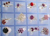 Cz and silver jewelry online shop sterling silver ring in assorted design with cz synthetic stone embedded