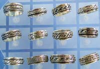 jewelry supplier wholesale wide band spinning ring in assorted pattern design