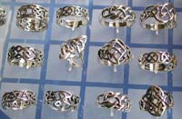 Wholesale Celtic jewelry, Celtic ring, sterling silver made of with Celtic knot work design